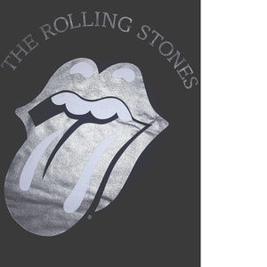 The Rolling Stones Shirts - Rolling Stones Silver Tongue Logo T-Shirt L XL NWT